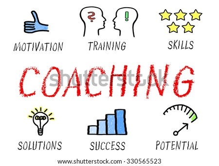 Coaching - professional training and great performance - stock photo
