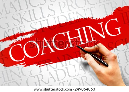 COACHING word cloud, education business concept - stock photo