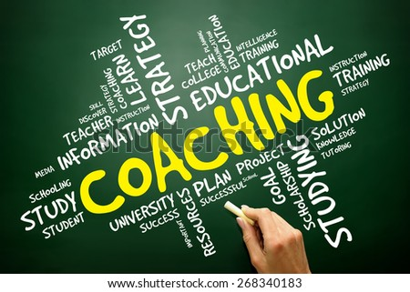 COACHING word cloud, education concept - stock photo