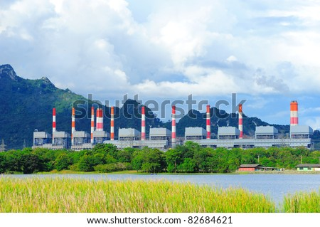 Coal fired power station - stock photo