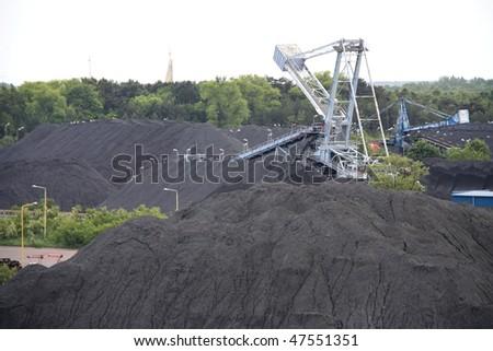 Coal mine. - stock photo