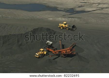 Coal mine machines - stock photo
