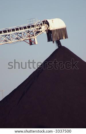 Coal Pile close-up - stock photo