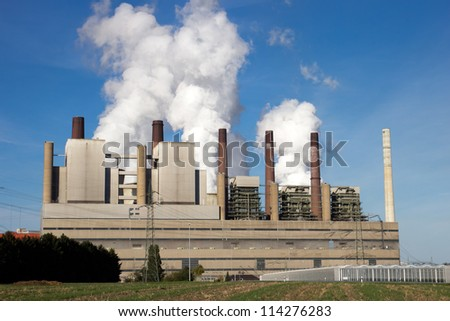 coal power station - stock photo