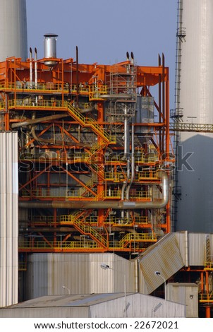 Coal power station  framework details - stock photo