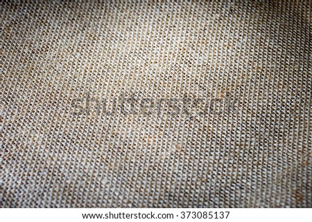 coarse jute fabric / Jute fabric - stock photo