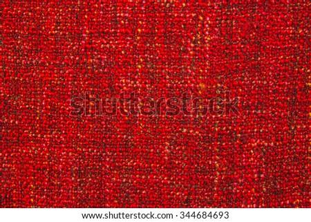 coarse woven red fabric - stock photo