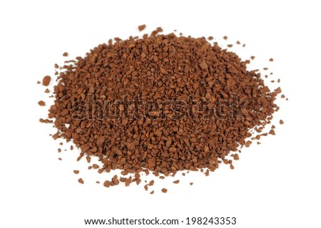 Coarsely Ground Coffee Isolated on White Background - stock photo