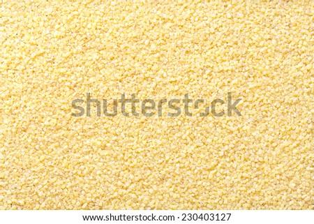 Coarsely ground wheat , Wheat Broken , cracked wheat , Daliya - stock photo