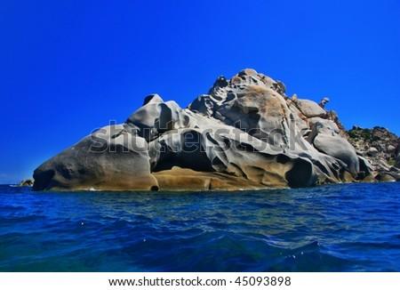 coast, Capo Testa, Sardinia - stock photo