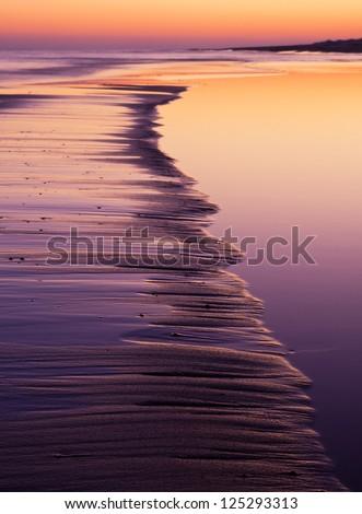 Coast closeup at sunset. landscape - stock photo