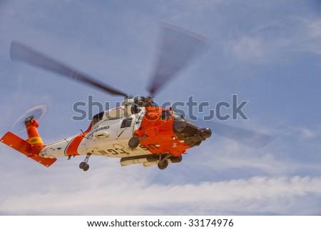 Coast Guard Jayhawk Rescue Helicopter - stock photo