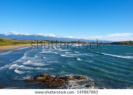 Coast in New Zealand - stock photo