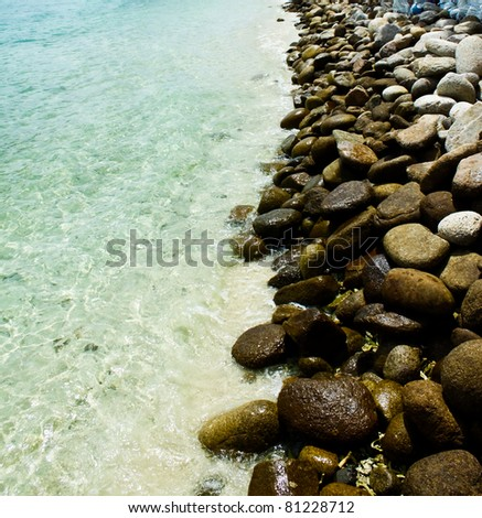 coast line - stock photo
