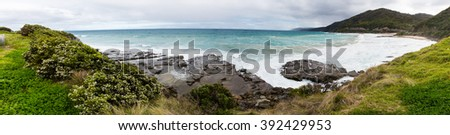 Coast line along Great Ocean Road, Australia - stock photo