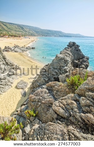 Coast near the town of Tropea region Calabria - Italy - stock photo