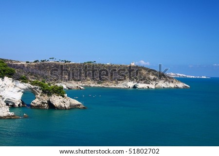 coast nearby Vieste, south Italy - stock photo