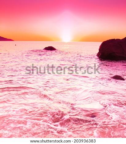 Coast Ocean Seascape  - stock photo