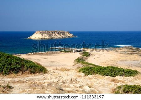 Coast of Akamas peninsula, Cyprus - stock photo