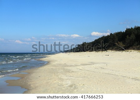 Coast of Baltic sea in sunny summer day - stock photo