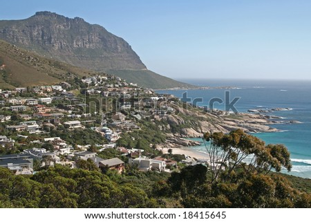 Coast of Cape Town, South Africa - stock photo