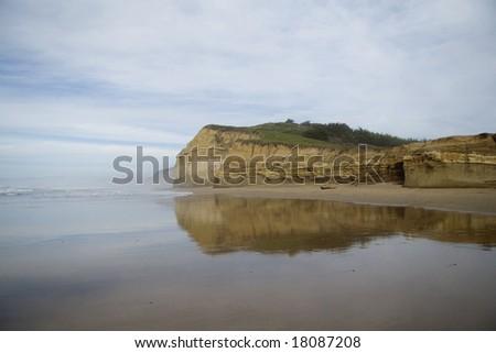 Coast of Pacific ocean, Half Moon Bay - stock photo