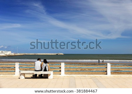 Coast of the Atlantic Ocean, El Jadida, Morocco, Africa - stock photo