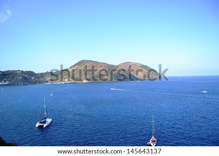 Coast of the island of Lipari, Sicily - stock photo