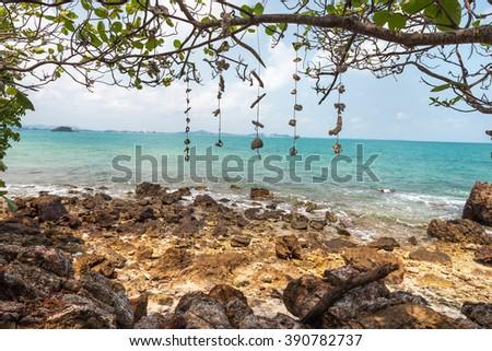 coast of the Koh Rang Isle of Ko Rang National Park, Koh Chang, Thailand - stock photo