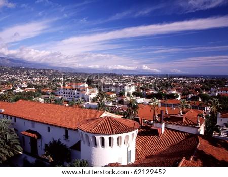Coastal city in California - stock photo