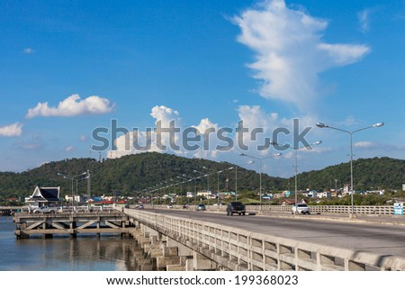 Coastal road THAILAND - stock photo