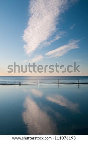 Coastal swimming Pool - stock photo