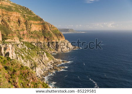 Coastline at Chapman's Peak Drive near Cape Town, South Africa - stock photo