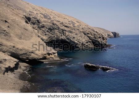 Coastline at Santa Barbara Island - stock photo
