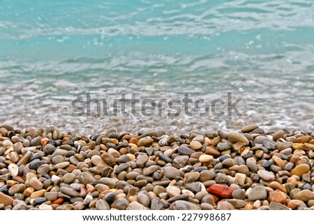 Coastline at the Mediterranean Sea. - stock photo