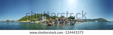 Coastline in Icmeler, Turkey - stock photo