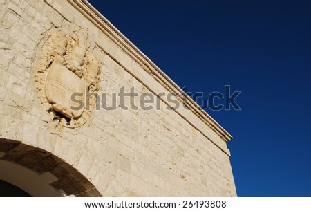 Coat of Arms Detail, Castello di Barletta (Barletta Castle), Apulia, Italy - stock photo