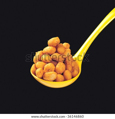 Coated Peanuts - stock photo