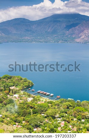Coatepeque lake, Santa Ana, El Salvador, Central America - stock photo