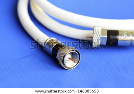Coax television cable concept of entertainment and communication - stock photo