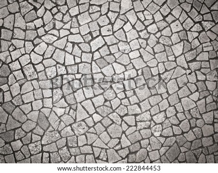 cobbled road as background  - stock photo