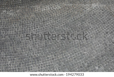cobblestone alley ,street block - stock photo