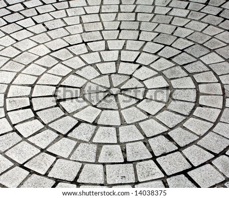 cobblestone pavement - stock photo