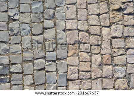 Cobblestone texture - stock photo