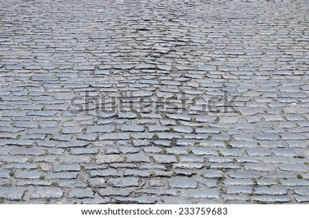 cobblestones on street as background - stock photo