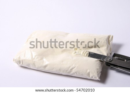 cocaine bag - stock photo
