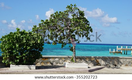 Cockburn Town Beach in Grand Turk, Turks and Caicos Islands - stock photo