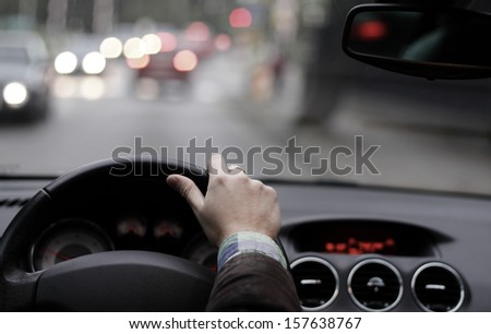 Cockpit drive abstract - stock photo