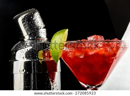 Cocktail, Cocktail Shaker, Martini. - stock photo
