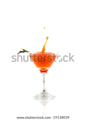 Cocktail drink on splash/ isolated - stock photo
